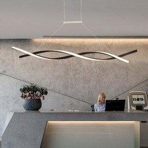 Image 5 - NEO Gleam Matte Black or Grey Minimalist Modern Led Chandelier For Living Room Dining Kitchen Room Surface Mounted Chandelier