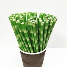 50 шт Биоразлагаемые бумажные питьевые соломки для дней рождения вечерние свадебные принадлежности Декор