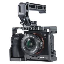 UURig C A73 هيكل قفصي الشكل للكاميرا لسوني a7iii A7R3 A7M3 القياسية Arca نمط الإفراج السريع لوحة مع مقبض علوي قبضة سوني A7III