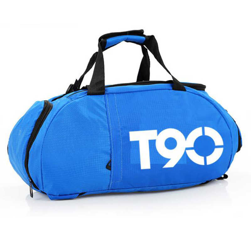 New Men Sport Gym Bag Women Fitness Waterproof Outdoor Separate Space for Shoes Pouch Rucksack Hide Backpack Sac De T90