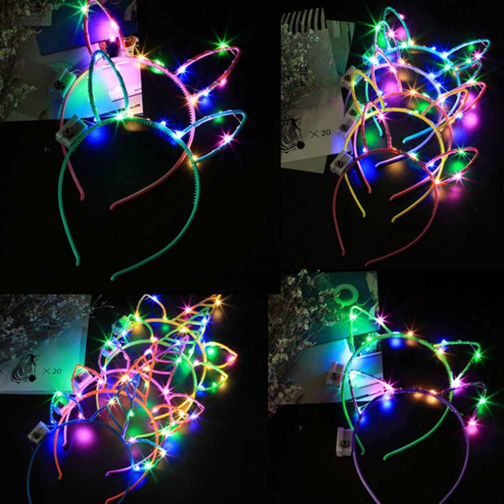 Colorful Flash Led Tiara Headband Scan Code Children'S Toys Abc Night Market Source Glow Garland