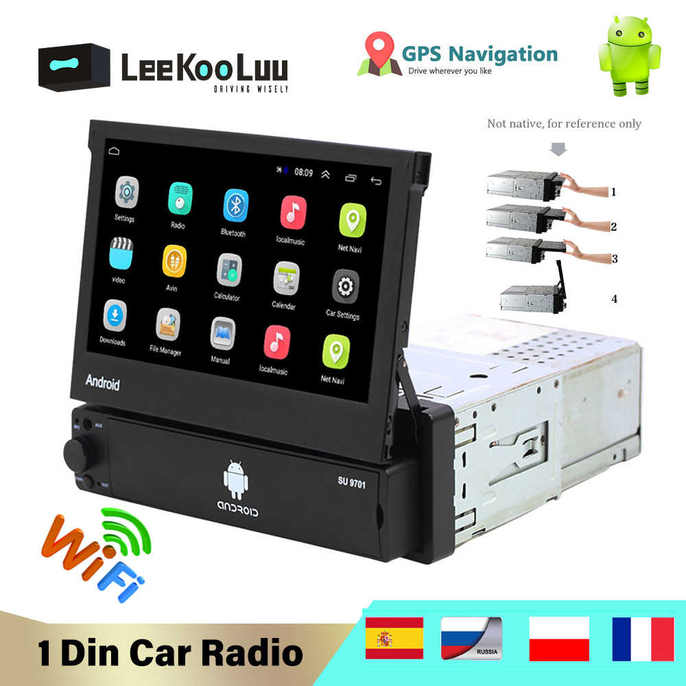 Camecho 1din Car Radio 7 Hd Touch Screen Gps Navigation Fm