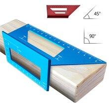 Мульти алюминиевый сплав треугольник деревообрабатывающий Scriber транспортир T линейка 45 90 градусов угол линейка шаблон