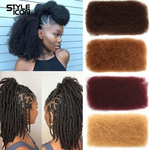 Trança a Granel Crochê para Trança Estiloicon Cabelo Humano 4 Pacotes Remy Peruano Afro Kinky Bulk 50 Gramas – Pçs 2 27 30 99j 1 3
