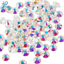 amethyst ab non hotfix crystal rhinestones ss3 ss30 and mixed sizes glue on glass chaton diy backpack clothes bag shoes supplies Upriver Crystal Clear AB SS3-SS30 Flat Back Transparent Bottom Non Hotfix Rhinestone Glass Stone For DIY Nail Art Decoration