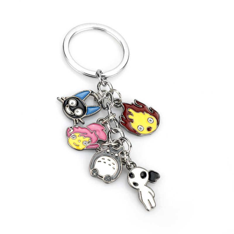 Anime Miyazaki Hayao Figur Keychain Nette Mein Nachbar Totoro Chinchilidae Cosplay Schlüssel Kette Schlüssel Ringe Chihiros Kaonashi Schlüssel