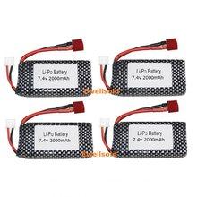 7.4V 2000mah Lipo Battery For XINLEHONG 9125 Remote Control Car Spare Parts XHL 9125 battery Accessory 7.4V 1600MAH batteries