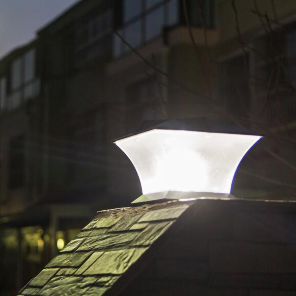 Cerca solar lâmpada paisagem luz jardim post