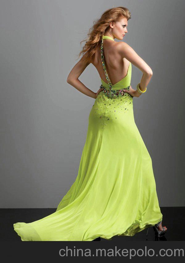 Vestido De Festa Longo Free Shipping Robe De Soiree 2018 Fashion Sexy Backless Crystal Party Prom Gown Formal Bridesmaid Dresses