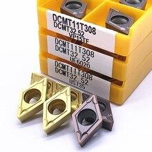 DCMT070204 DCMT070208 DCMT11T304 DCMT11T308 VP15TF UE6020 US735 hartmetall einsätze Interne Drehen werkzeug CNC werkzeug