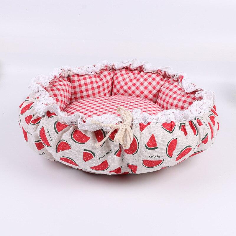 Pet Dog Nest flower Bud Nest Pumpkin Nest Small Dog Kennel Cat Nest Pet Mat Sleep Nest For Cat Teddy Chihuahua Bed 17