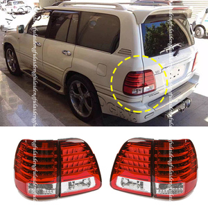 4PCS Clear Red LED Tail Lights For Toyota Land Cruiser LC100 FZJ100 UZJ100 1998-2007 Car Styling Accessories
