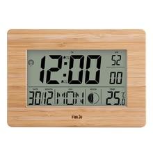 FanJu Digitale Wanduhr LCD Große Große Anzahl Zeit Temperatur Kalender Alarm Tisch Schreibtisch Uhren Modernes Design Büro Wohnkultur