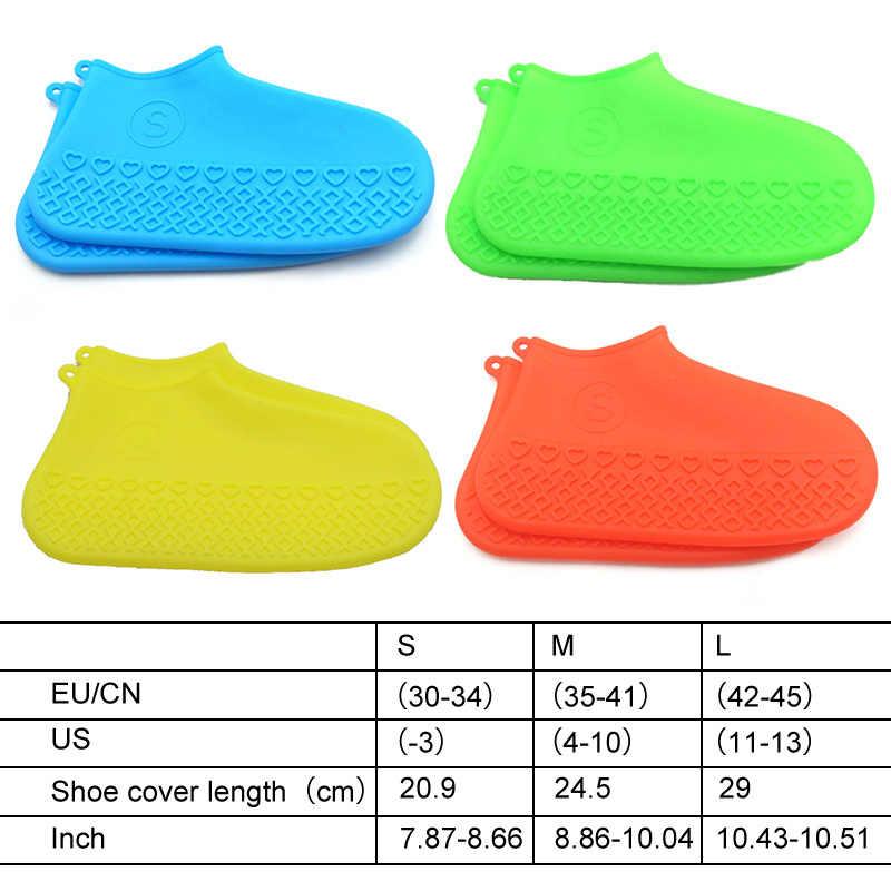 รองเท้ากันน้ำใหม่ซิลิโคนวัสดุ Unisex รองเท้าป้องกันรองเท้ากลางแจ้งในร่ม Rainy รองเท้าจัด