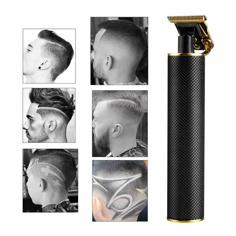 電気バリカン充電式ひげトリマー男性子供理髪ヘアカットかみそりコードレス0ミリメートルt-ブレードカッター45