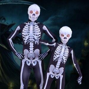 Image 5 - 가족 무서운 악마 악마 해골 해골 남자 여자 아이 할로윈 카니발 파티 의상