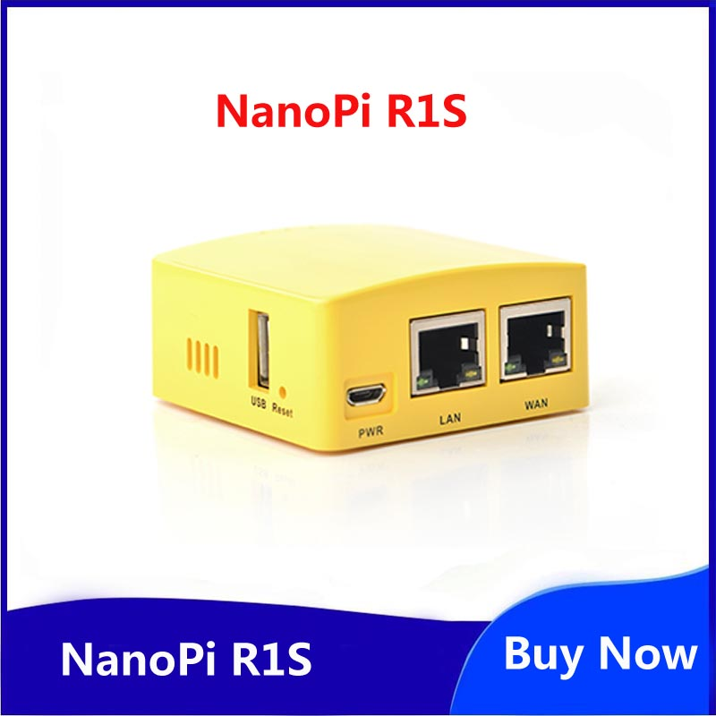 Friendly NanoPi R1S Portable Small Route, All Chi H3/H5 Dual Gigabit Ethernet Port 512M Memory OpenWRT