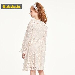Image 3 - Balabala vestido de princesa de encaje, ropa de algodón, adorables largo, Otoño, 2019