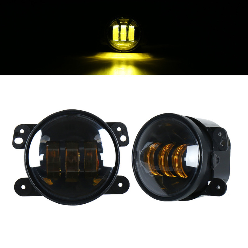 The Yellow Front Fog Lamp Of Herdsman In The Jeep Of Levita