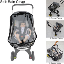 Baby Strolle Accessories Raincoat Rain Cover of High View Pram Baby Car Seat For Foofoo Doona Stroller