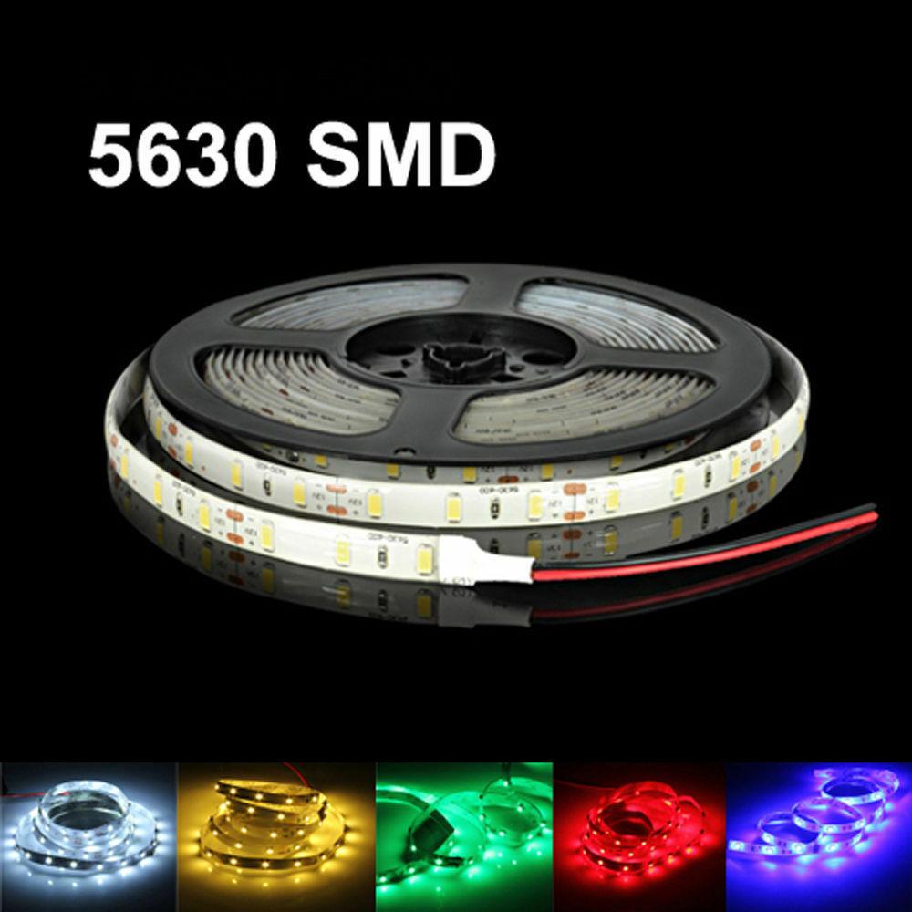 50M SMD5630 LED Streifen Licht 60Leds/m DC12V band band diode flexible wasserdicht