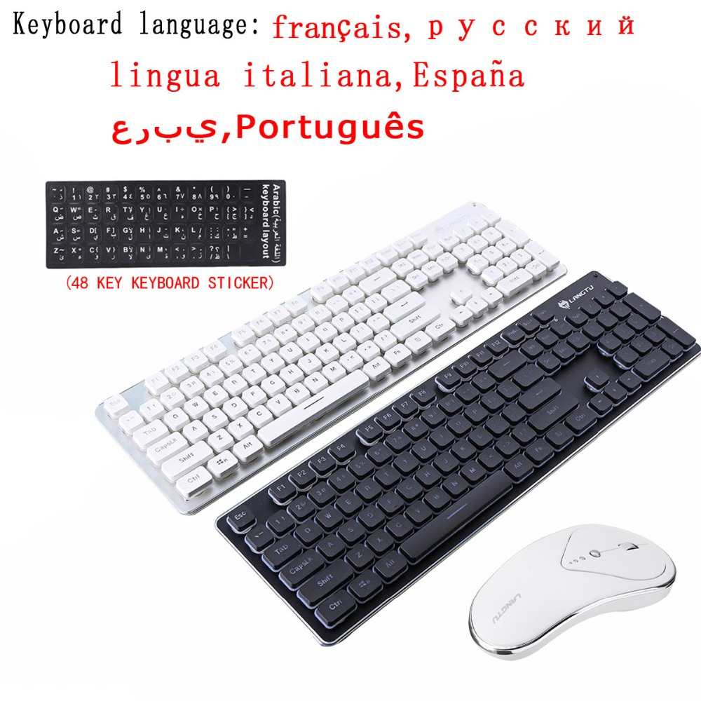 Rechargeable Wireless Keyboard Mouse Combos Kit LT600 Luminous Mute Gaming Keyboards Mouse Professional Game Player|Keyboard Mouse Combos| |  -