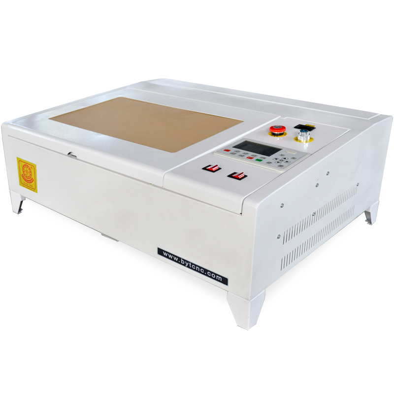 BYT CNC MINI CO2 Laser Cutter/ Engraving Machine For Crystal Wood Stone Rubber Stamp Phone Cup DIY