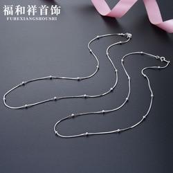 Accesorios Retro, S925 collar de plata de ley, Gargantilla para mujer, bolso de serpiente para fiesta 08, 2,5, doble cuenta, 1: 1 joyería de estilo coreano