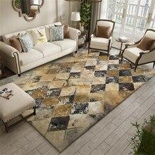 Alfombras clásicas de área grande Retro geométrico sala de estar sofá Mesa alfombras antideslizantes dormitorio cabecera niños tienda de juegos Tapetes