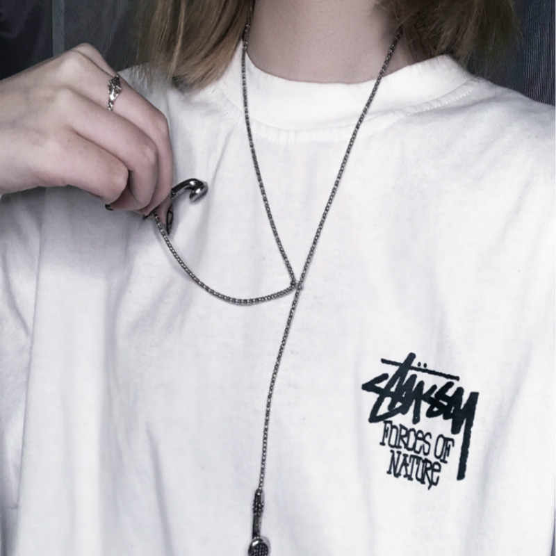 Alloy Stainless Steel Fashion Hip Hop Necklace Personality Fashion Earphone Pendant Accessories Necklace Women's NecklaceJewelry
