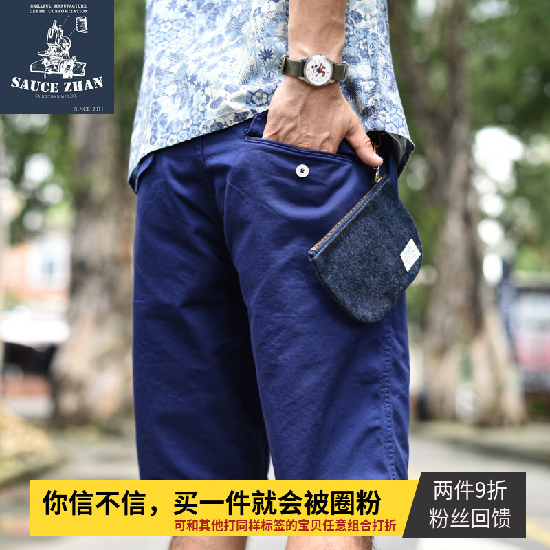 SauceZhan Naval Officer Shorts Mens Military Cargo Pants Men Cotton Casual Short Pants  New Army Shorts VINTAGE ARMY HBT Pants