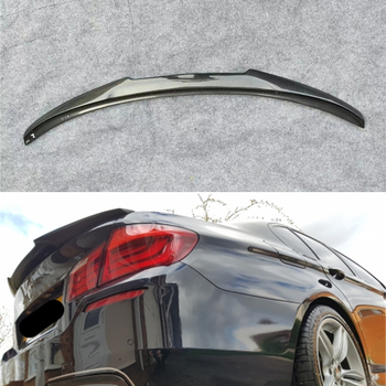 For BMW 5 Series F10 spoiler 2010--2017 year rear wing  M4 style Sport body kit Accessories real carbon fiber