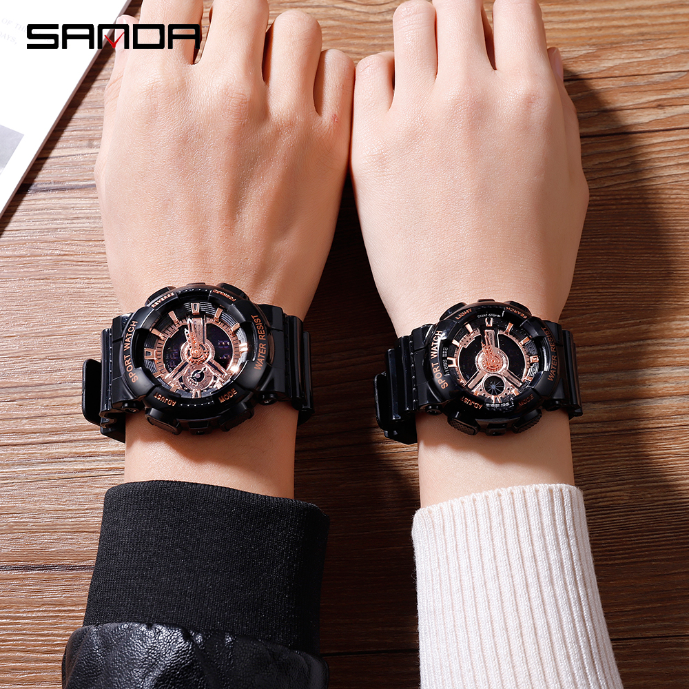 2020 SANDA Military Men's Watch Top Brand Luxury Waterproof Sport Wristwatch Fashion Quartz Clock Couple Watch relogio masculino 6