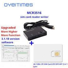 OYEITIMES считыватель sim-карт+ 5 шт 2FF/3FF/4FF программируемая sim-карта пустая LTE WCDMA GSM USIM 4G карта+ SIM инструменты для персонализации