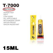 15ml t7000 cola adesivos multiuso super cola T-7000 cola epóxi líquida preta para diy artesanato caso de telefone de vidro tela de metal