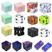 Crianças adulto brinquedo de descompressão infinito cubo mágico quadrado quebra-cabeça brinquedos aliviar o estresse engraçado jogo de mão quatro canto brinquedos labirinto