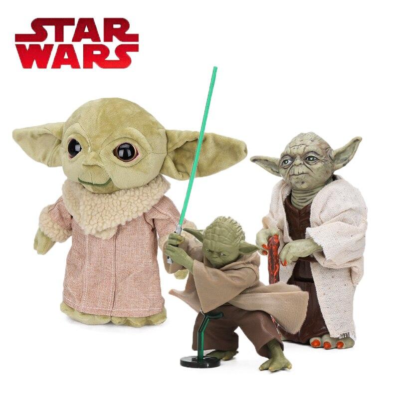 12-30cm Star Wars Toys Master Yoda Darth PVC Action Baby Yoda The Force Awakens Jedi Yoda Anime Figures Model Dolls Toy