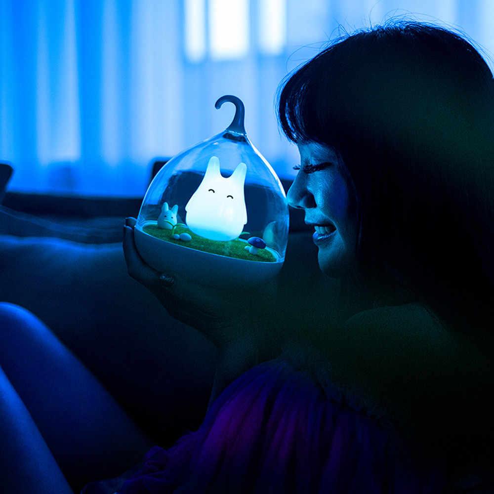 Светодиодный мини Ночной светильник USB портативная лампа сенсорный ночник милый свет Домашний Декор Спальня сенсорный датчик для ребенка прикроватные лампы
