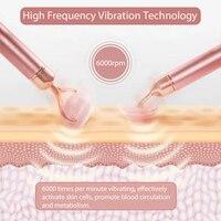 Electric Jade Roller For Face Eye Massage Rose Quartz Facial Rollers Vibrating Beauty Bar Skin Tightening Tool Waterproof 5