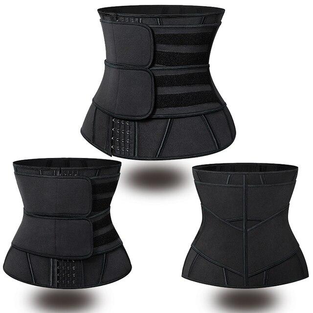 Women Waist Trainer Corset Sauna Sweat Faja Sport Girdle Slimming Shaper Abdominal Trimmer Belt Straps Modeling Black Plus Size 5