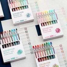 9 pçs caneta de gel de estética conjunto cor morandi do vintage escrita suprimentos tinta colorida canetas neutras papelaria bonito adorável presente