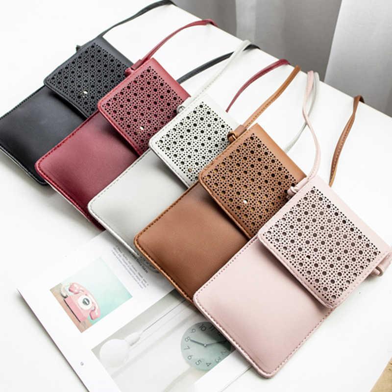 Açık PU deri omuz çantası çapraz kol cüzdan dokunmatik ekranlı cep telefonu çanta para kesesi cüzdan kadın geniş Dropshipping