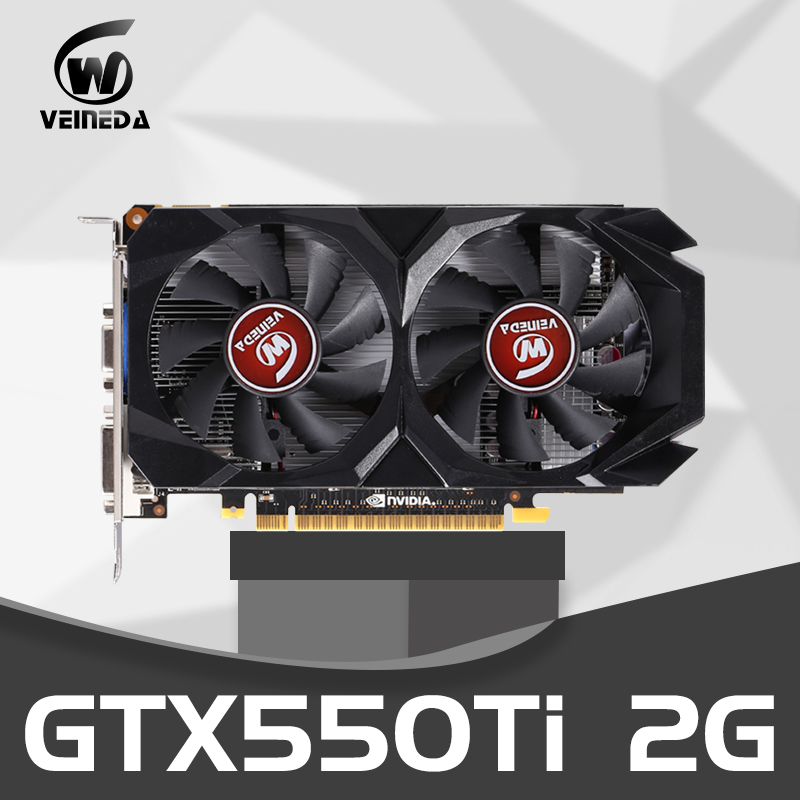 Graphics Card GTX 550 Ti 2GB 128Bit GDDR5 Video Cards For NVIDIA Geforce GTX 550Ti VGA CardsStronger Than GTS450 , GT730