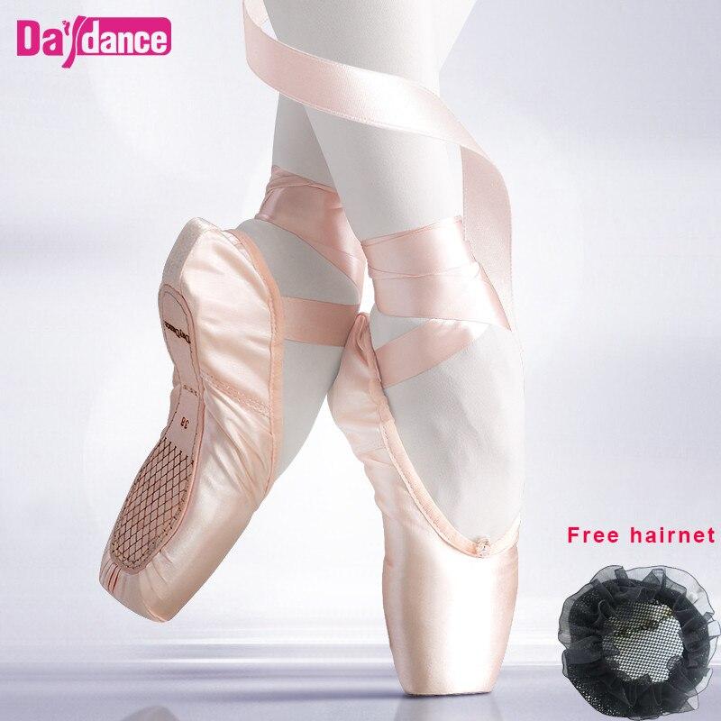 Женские атласные балетки, профессиональные балетки с лентами, для девушек и женщин