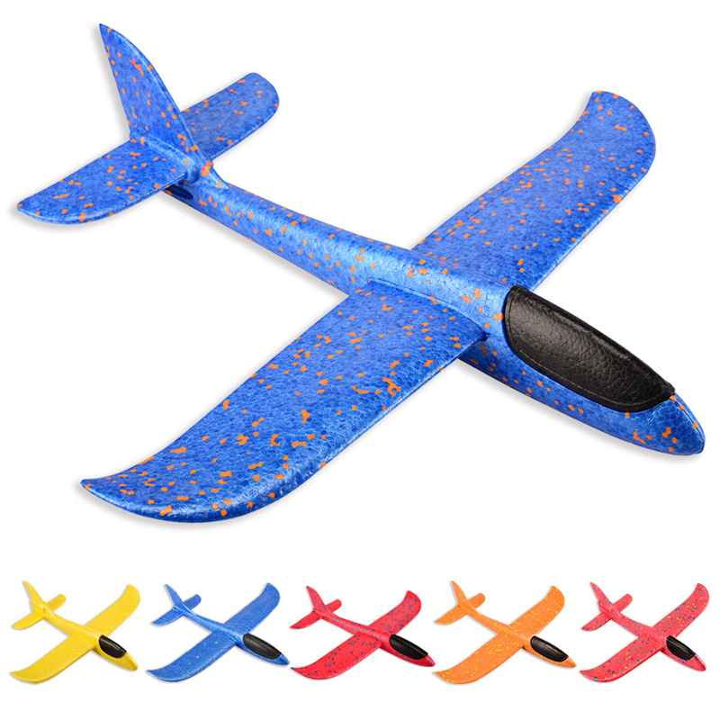 Kids Toys Airplane Model Hand Throw Plane 35cm 48cm EPP Foam Launch Aircraft Flying Glider Toys For Children Outdoor Game(China)