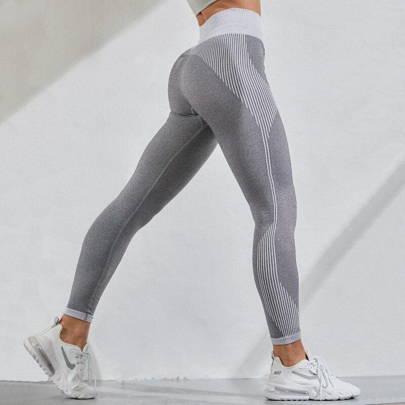 NORMOV Elasticity Leggings Women Seamless High Waist Breathable Fitness Leggings  Running Quick-Drying Leggings Gym Clothing