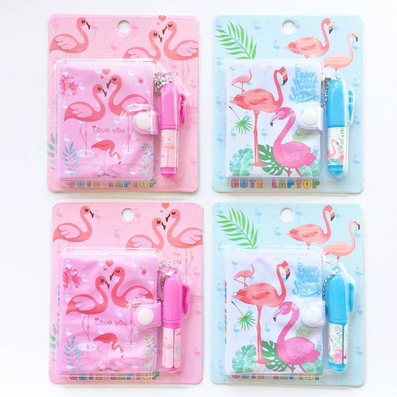 Kawaii Unicorn Flamingo Portable Cartoon Notebook + Ballpoint Pen Set School Office Supply Gift For Kid Creative Wholesale