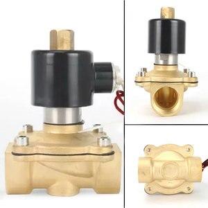Image 3 - Normaal Open Brass Electric Magneetventiel DN08 DN10 DN15 DN20 Pneumatische Klep 12V 24V 220V 110V voor Water Olie Ga