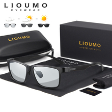 LIOUMO Square Sunglasses For Men Aluminium Magnesium Frame P