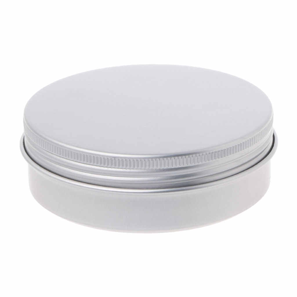 5-120ml Empty Aluminium Cosmetic Pot Jar Silver Tin Container Round Box with Lid Drop Ship Support